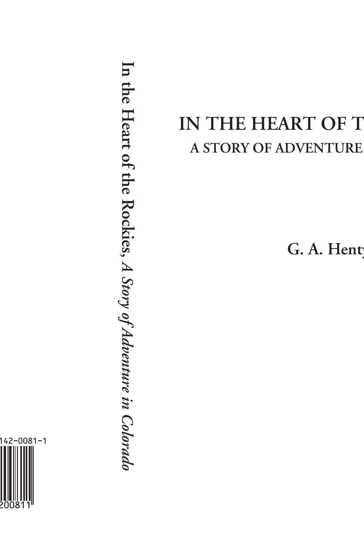 In the Heart of the Rockies (A Story of Adventure in Colorado) pdf epub