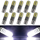 EverBrightt 10-Pack Cool White T10 3014 24SMD Silica LED Interior Bulbs For Car Replacement Lights Trunk Light DC 12V