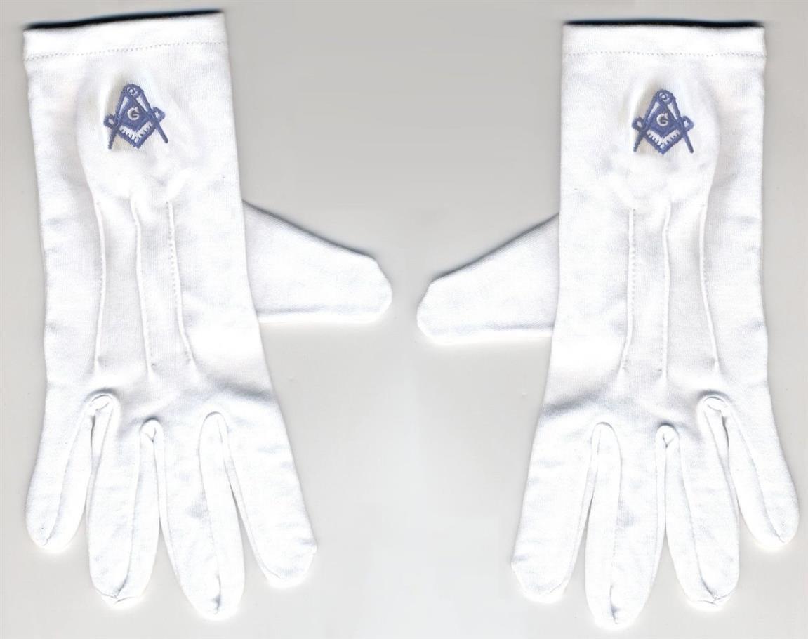White apron freemason - Amazon Com White Masonic Gloves With Blue Embroidery Other Products Everything Else
