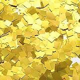 TecUnite Gold Foil Square Table Confetti Sparkle Metallic Confetti for Wedding Party Supplies, 1.76 oz