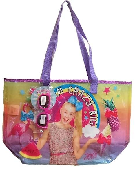 3648aca105 Amazon.com  JoJo Siwa Large Beach Tote Bag with Sunglasses (Dream Crazy Big)   NickelodeonUniverse®