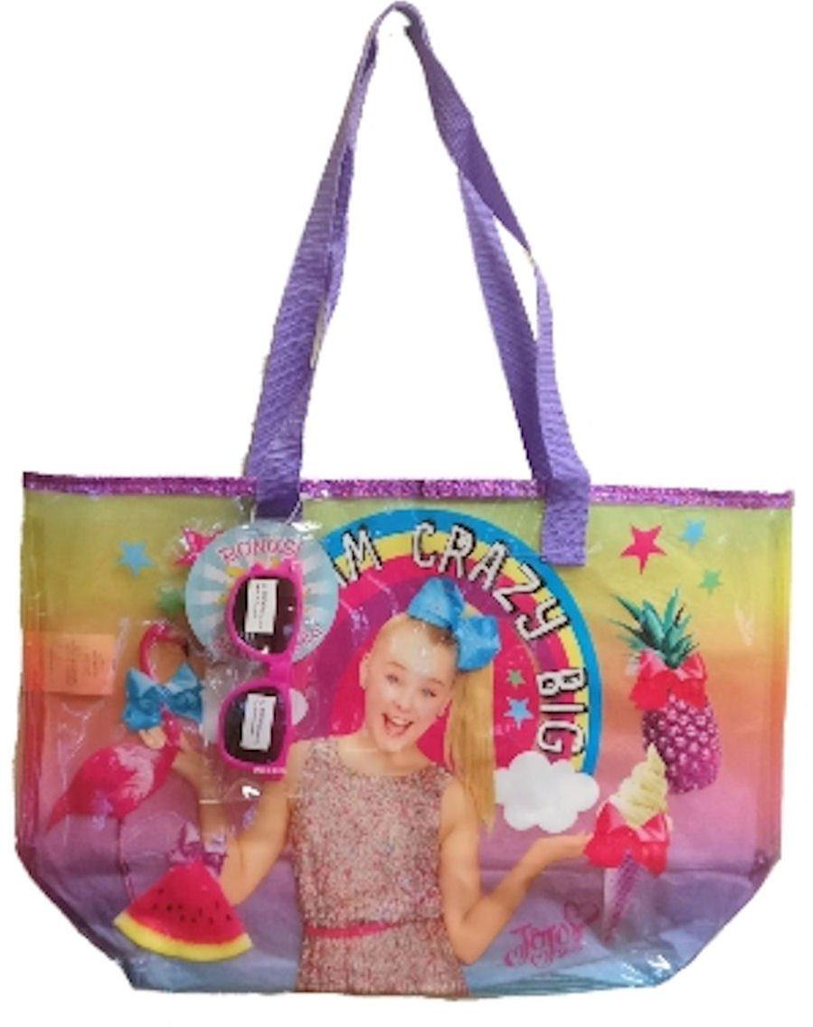 JoJo Siwa Large Beach Tote Bag with Sunglasses (Dream Crazy Big)