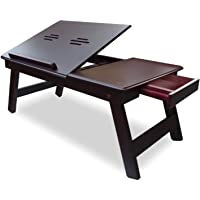 Decorasia Wooden Laptop Table, Study Table, Portable Bed Tray, Book Stand, Multipurpose Table With Foldable Legs