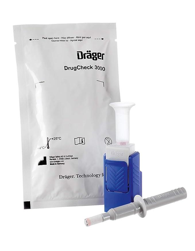 Dräger DrugCheck 3000 | 1 test multidrogas con saliva de un solo uso | Detector profesional de 6 drogas: THC (marihuana), benzodiacepina, cocaína, ...