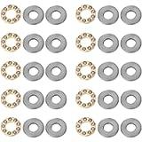 10pcs Thrust Ball Bearing Needle Roller Washers Axial Ball Miniature Flat Steel Bearings Set (F7-13M 7 * 13 * 4.5mm…
