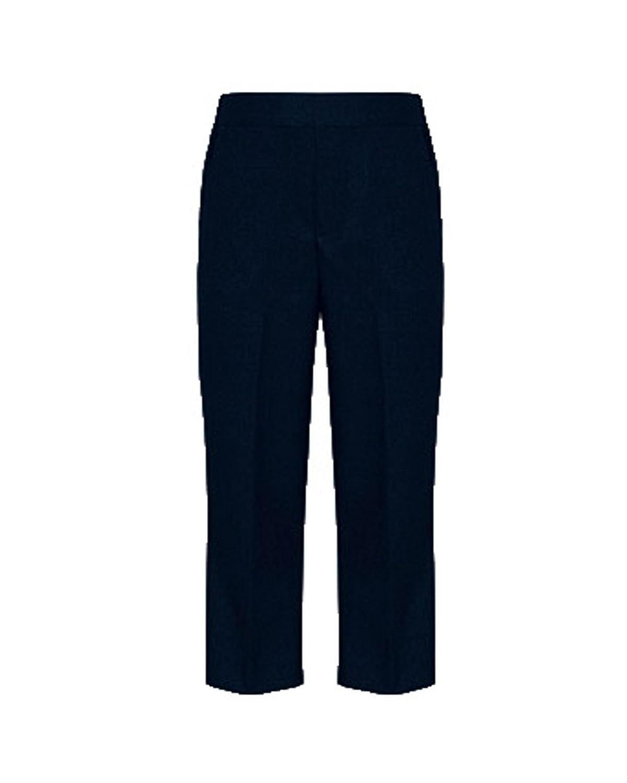 Generic Little Boys' BNWT School Pull On Half Elastic Mock Fly Trousers s_trs01_pu_blk_20-$P