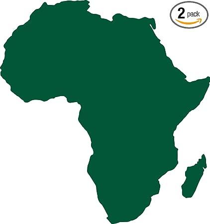 Amazon.com: Africa Map Silhouette (Green) (Set of 2) Premium