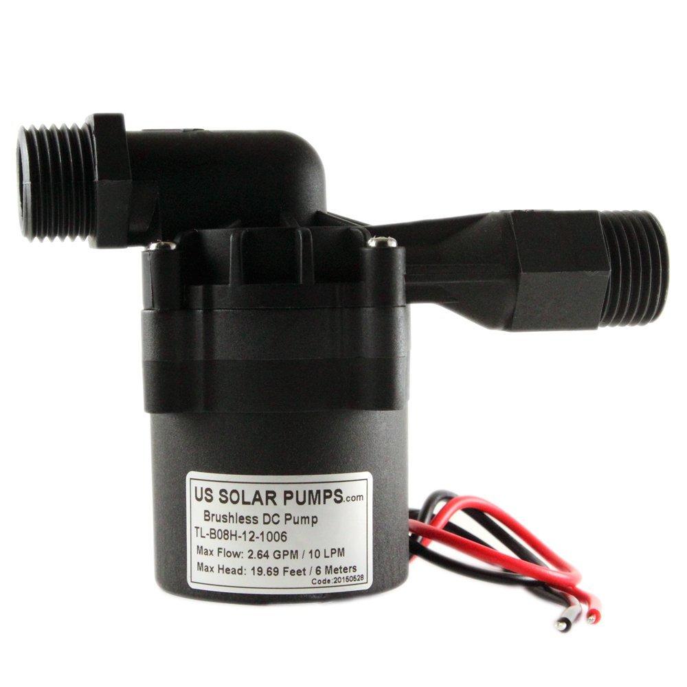B8 12V 10L - Micro-DC Circulating Pump US Solar Pumps
