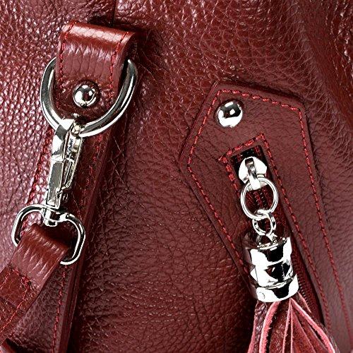 Arizona femme cuir FONCE à main Modèle Sac ROUGE XxzO8wt