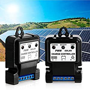 Amrka 6V 12V 10A Auto Solar Panel Charge Controller Battery Charger Regulator PWM