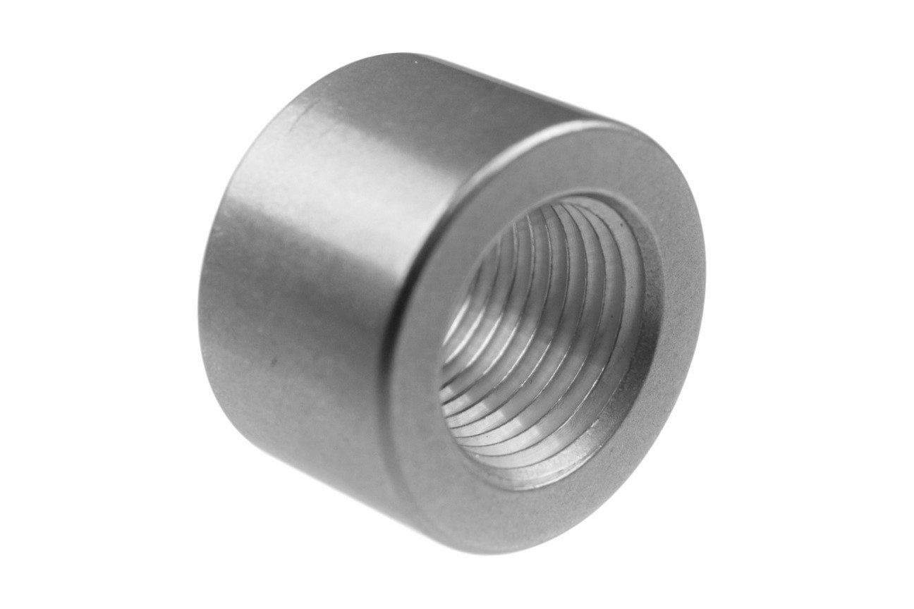 Aluminum 1/2' NPT Weld On Bung Female Nut Threaded Insert Weldable , 617-6704AL ICT Billet