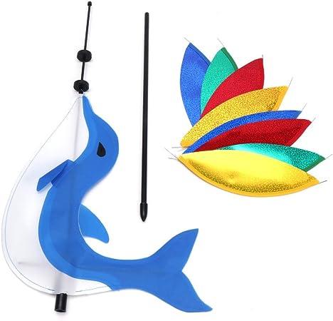 Rainbow Wind Spinner Colorful Windmill Cute Cartoon Animal Winnower Kids Toy