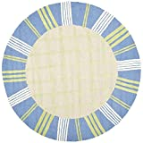 Safavieh Kids Collection SFK320A Handmade Taupe and Blue Cotton Round Area Rug (6′ Diameter)