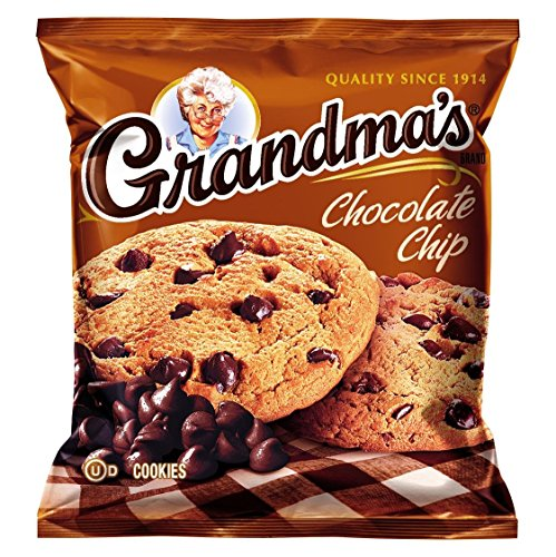 Grandmas Chocolate Chip - Grandma's Chocolate Chip Cookies, 2.5 Ounce (Pack of 60)