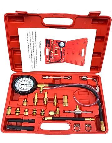 Aeanm Vehicle Vacuum Pressure Gauge, Hand Held Fuel Pump & Vacuum Tester Gauge Leak Carburetor