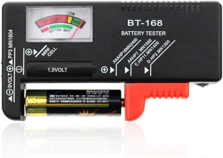 Kitchen Dream Batterietester Universal Battery Checker Für Aa Aaa C D 9v 1 5v Knopfzellenbatterien
