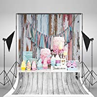 5x7ft No Wrinkles Children Photography Background Colorful Cake Props Backdrops Wood Floor Birthday Photo Background J016714