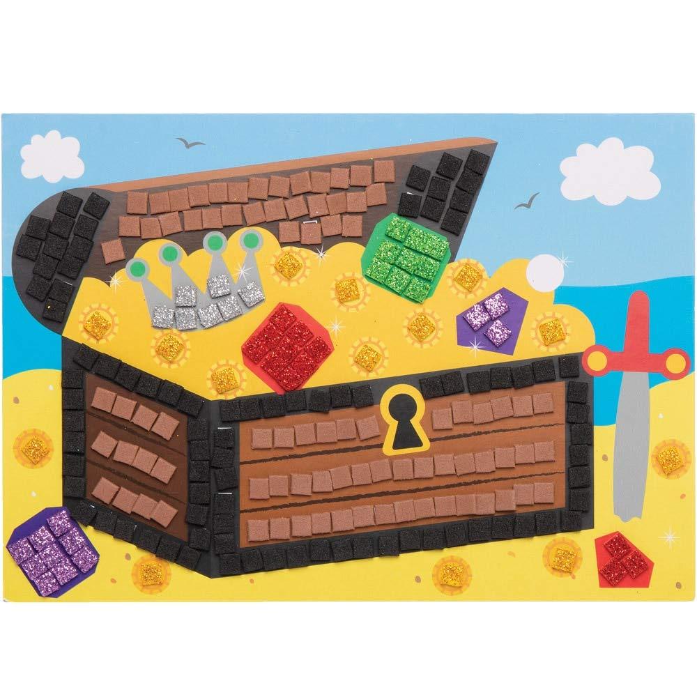 Kits de Im/ágenes de Pirata Para Decorar con Mosaicos Baker Ross AT676 surtidos para proyectos de arte y manualidades para ni/ños paquete de 4