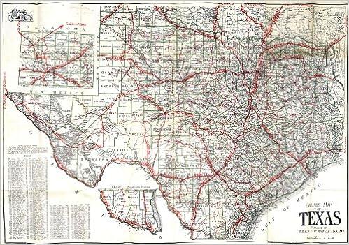 1856 TEXAS MAP TX Pflugerville Pharr Plainview Plano Pleasanton Pollok .ITS HUGE