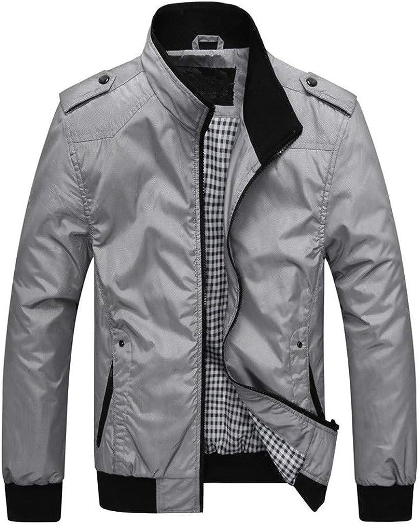 YUNY Mens Plus Size Winter Outwear Zip-up Lapel Warm Anorak Jacket Black 3XL