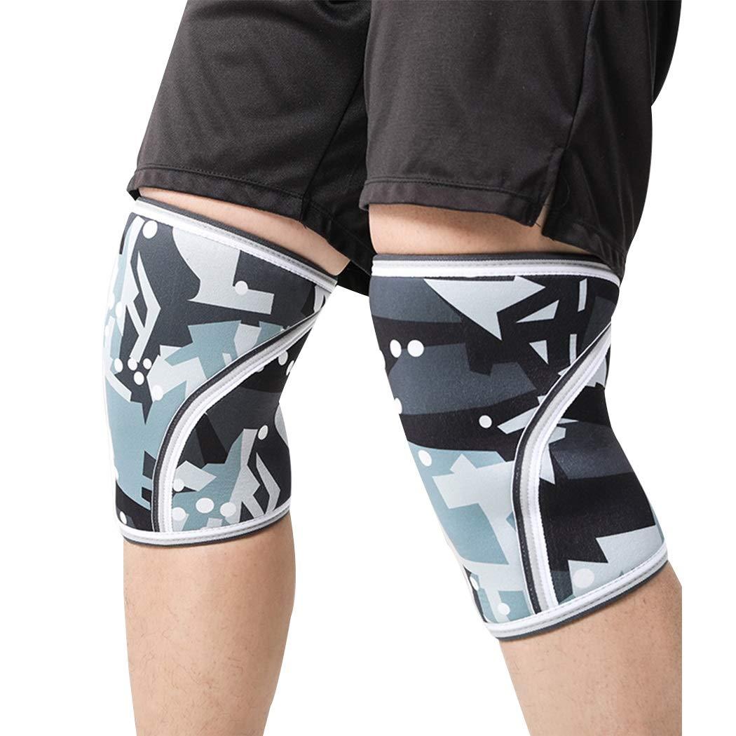 HUIFEI Camouflage Sport Knieschützer Gummimaterial 7mm Erwachsene Kniebeuge Fitness Outdoor Sport Knieschützer