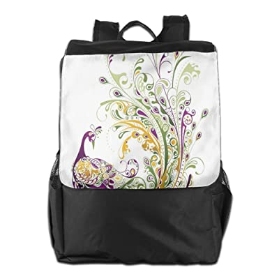 Newfood Ss The Feathers Of A Peacock Are Like The Eyes (2) Outdoor Travel Backpack Bag For Men And Women