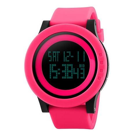 Zmsdt Reloj Deportivo Reloj Electrónico Eólico Luminoso Reloj Multifuncional Impermeable Reloj Universitario para Hombre Y Mujer