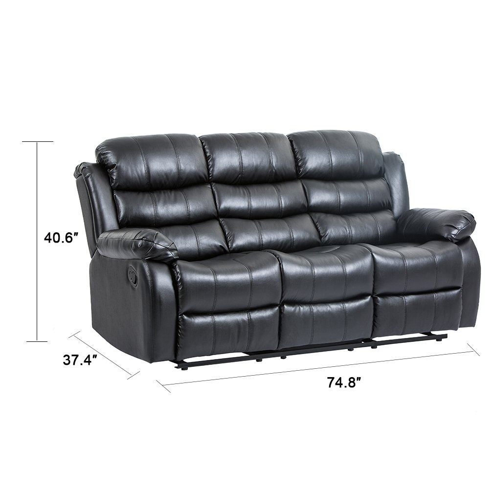 Amazon com bestmassage recliner sofa reclining chair modern sectional furniture three seat for living room classic kitchen dining