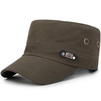 e48d7c55f2a Putars Autumn Winter Vintage Mens Military Washed Hats Flat Top Baseball  Caps Cotton Dad Caps Hat
