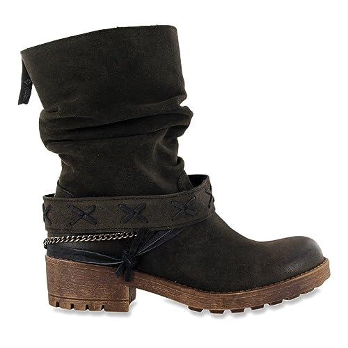 Coolway Angus - Botas de Ante para Mujer Negro Negro Taglia Scarpa marrón Size: 38: Amazon.es: Zapatos y complementos