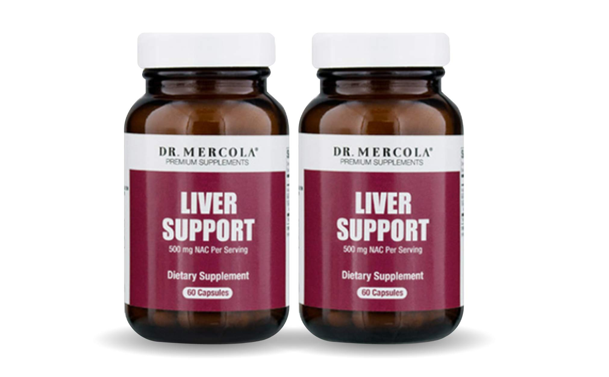 Dr. Mercola Liver Support Formula – 60 Capsules – 2 Bottles - Natural Liver Cleanse & Detox: N-Acetyl Cysteine, Milk Thistle & Organic Broccoli Powder – Supports Healthy Liver Function & Repair