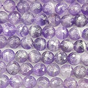 Faceted Natural Amethyst Round Gemstone Loose Beads Jewelry Findings (8mm)