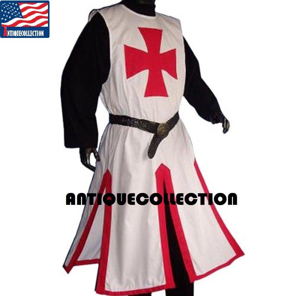 Amazon.com: Medieval caballeros templarios Cruz sobreveste ...