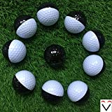 10 Black-and-white Exercise Competition Range Golf Balls