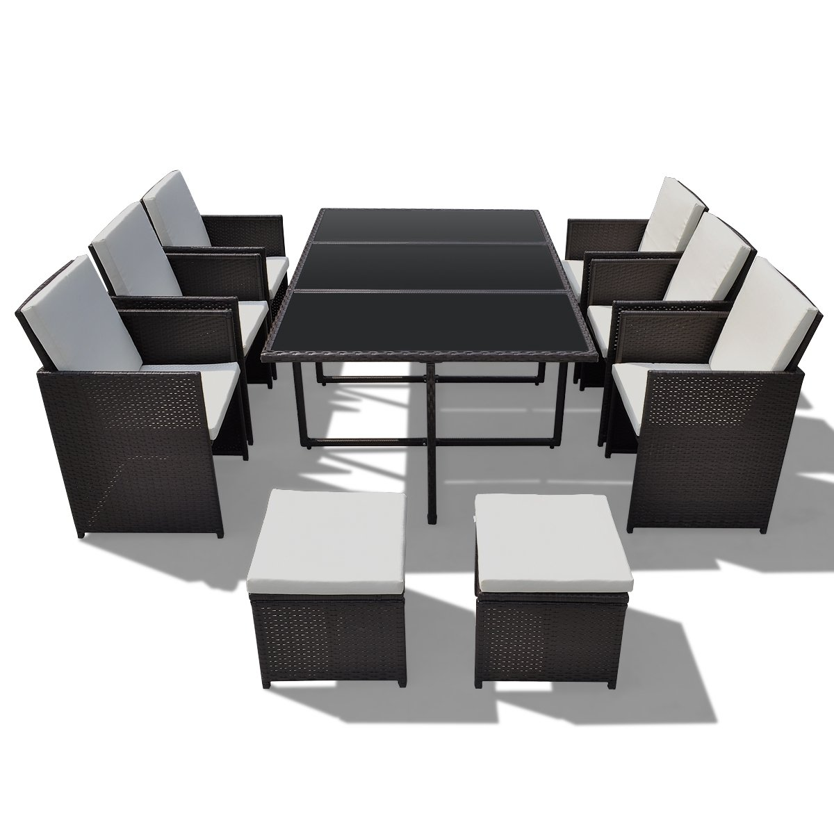 ssitg poly rattan gartenm bel essgruppe gartengarnitur set. Black Bedroom Furniture Sets. Home Design Ideas