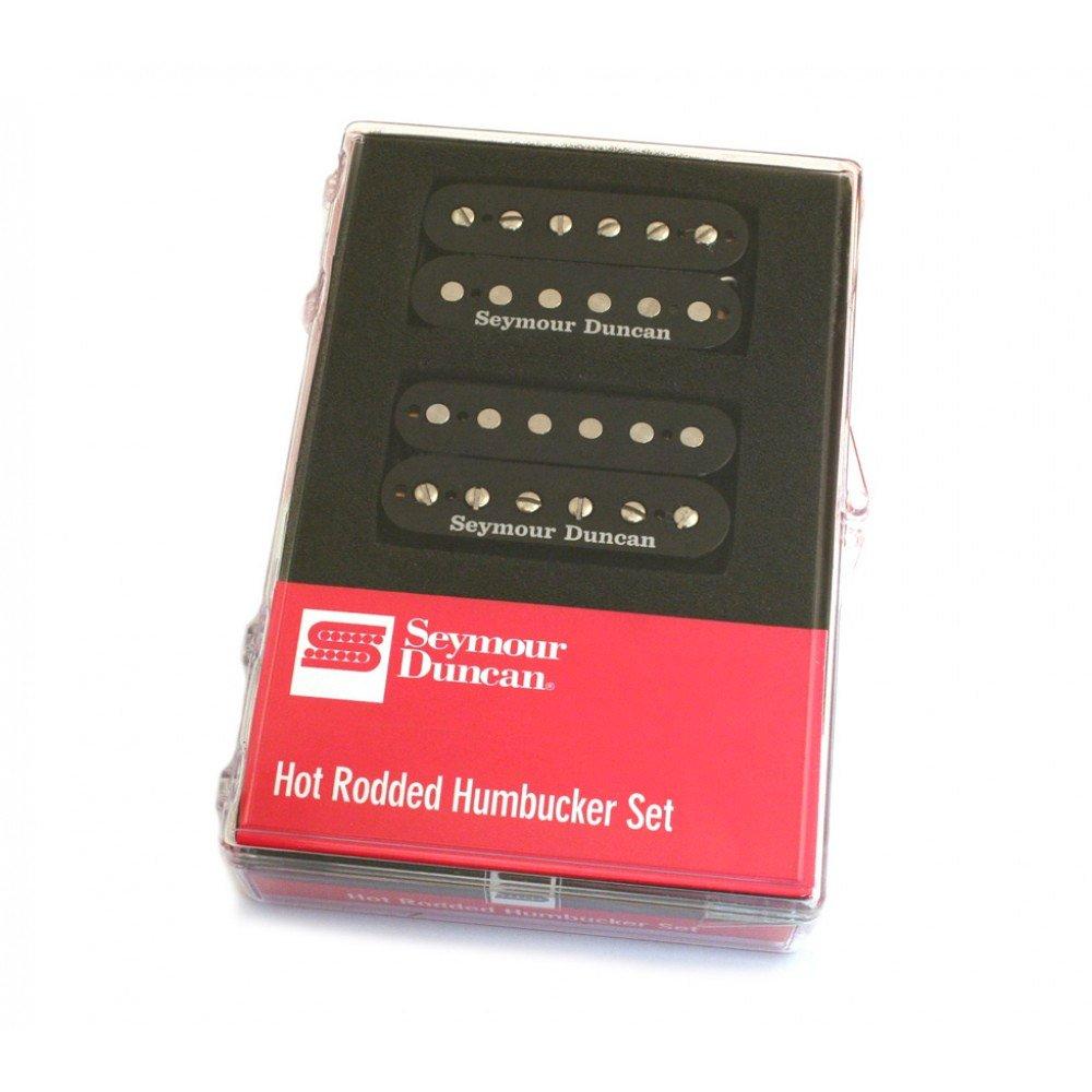 Seymour Duncan Sh 4 And 2 Hot Rodded Humbucker Pickup Set Black Ibanez Wiring Diagram Musical Instruments
