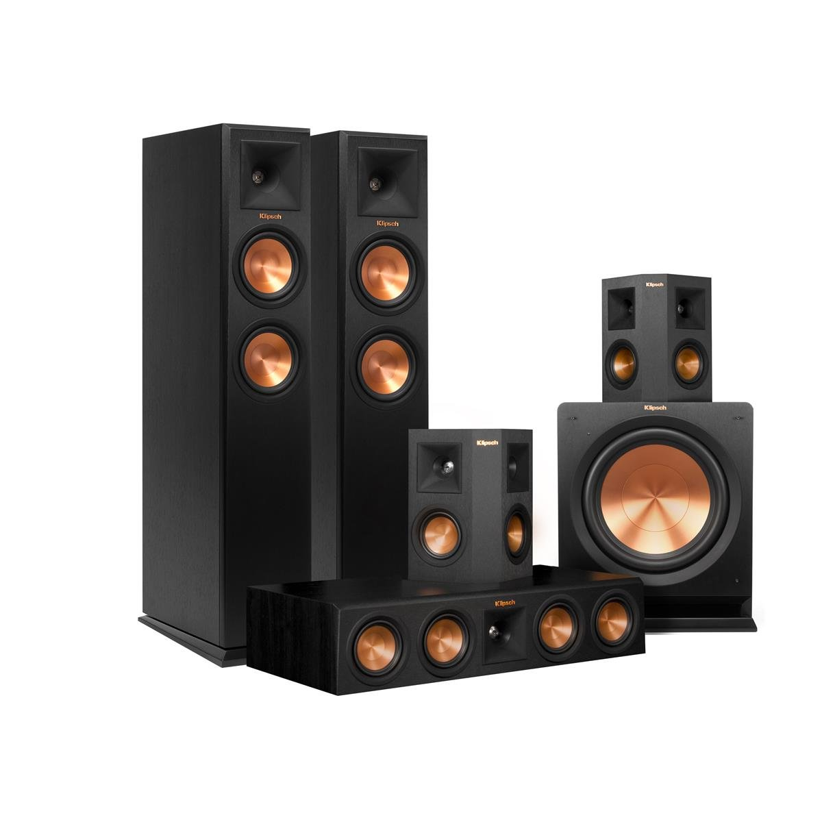 Klipsch 5.1 RP-250 Reference Premiere Speaker Package with R-112SW Subwoofer (Ebony) by Klipsch