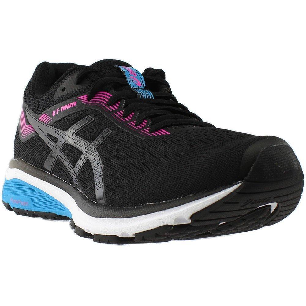 ASICS Women's GT-1000 7 (D) Running Shoe B077MMSTJQ 6 M US|Black/Pink Glow