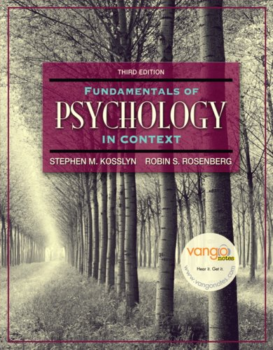 Fundamentals of Psychology in Context Value Package (includes Grade Aid Workbook with Practice Tests) (3rd Edition)