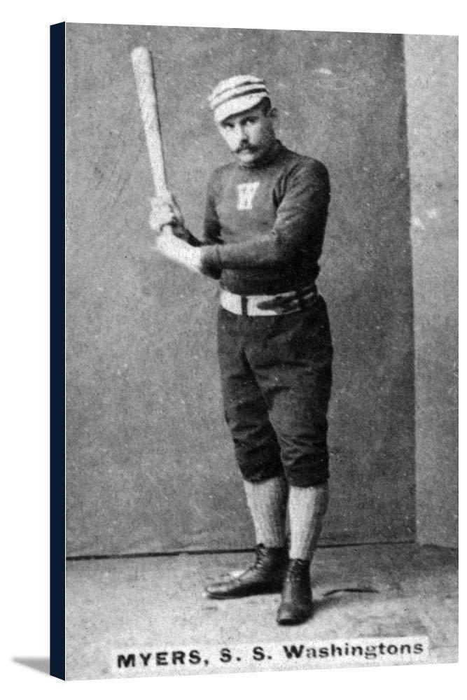 ワシントンStatesmen – Al Myers – 野球カード 21 7/8 x 36 Gallery Canvas LANT-3P-SC-23278-24x36 B0184A8UWW  21 7/8 x 36 Gallery Canvas