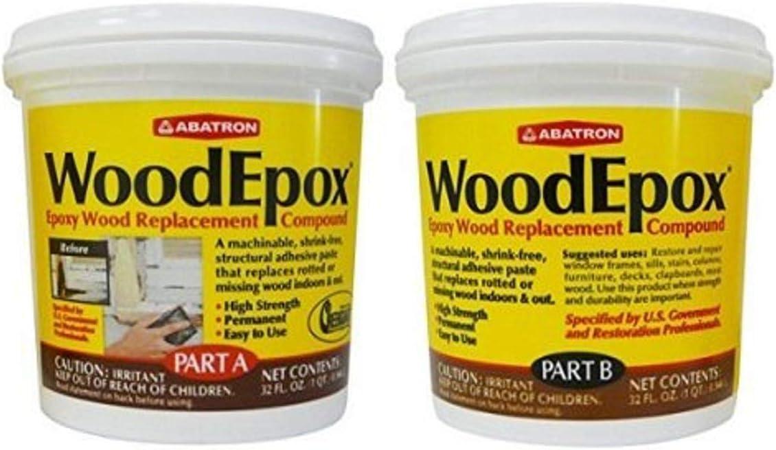 WoodEpox Epoxy Wood Replacement Compound- 2 Quart Kit