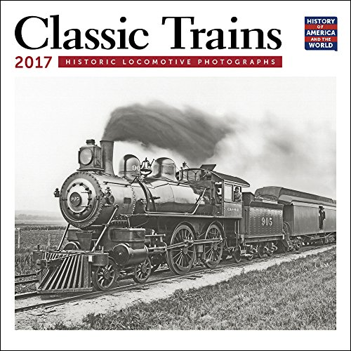 Classic Trains Mini Wall Calendar 2017