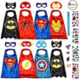 #6: Dropplex 8 Superhero Capes For Kids - Super Hero Toys & Costumes Birthday Party Supplies