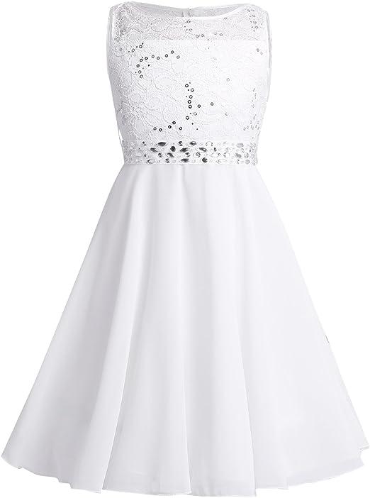 Vestiti Cerimonia 14 Anni.Iefiel Vestito Da Cerimonia Bambina Elegante Cinghia Amovibile