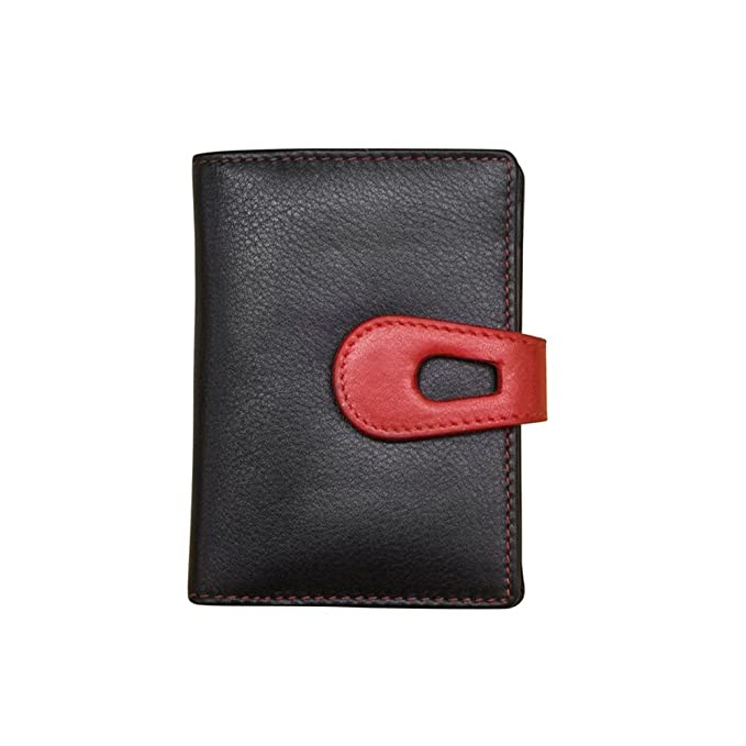 09ec230bf370 ILI Leather Small Credit Card Holder/Wallet with RFID