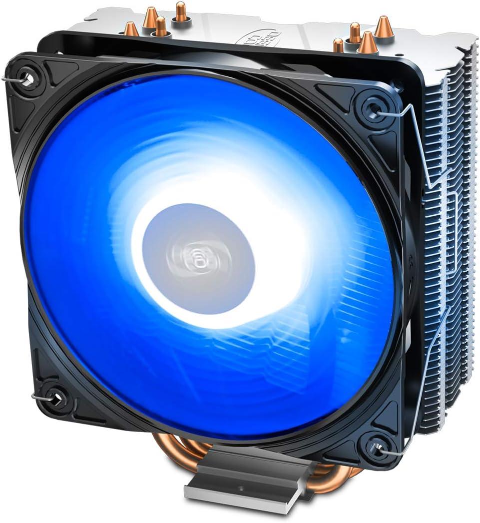 DEEPCOOL GAMMAXX 400 Ventilateur de processeur PC,4 Heatpipes,Ventilateur 120mm PWM,Fourni avec la p/âte Thermique;AM4 Compatibilit/é