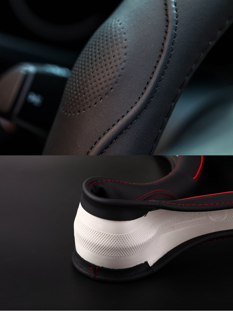 15 Vera Pelle HONCENMAX Veicolo Coprivolante Auto Protezione del Volante Universale Diametro 38 cm