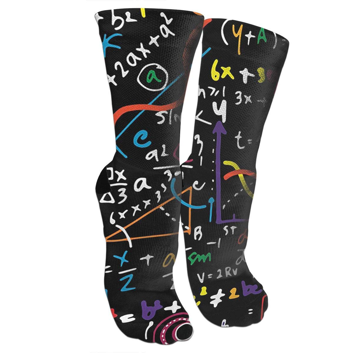 Wellesley Math Crazy Socks Wellesley Math 3D Crew Socks For Running Athletic Sports