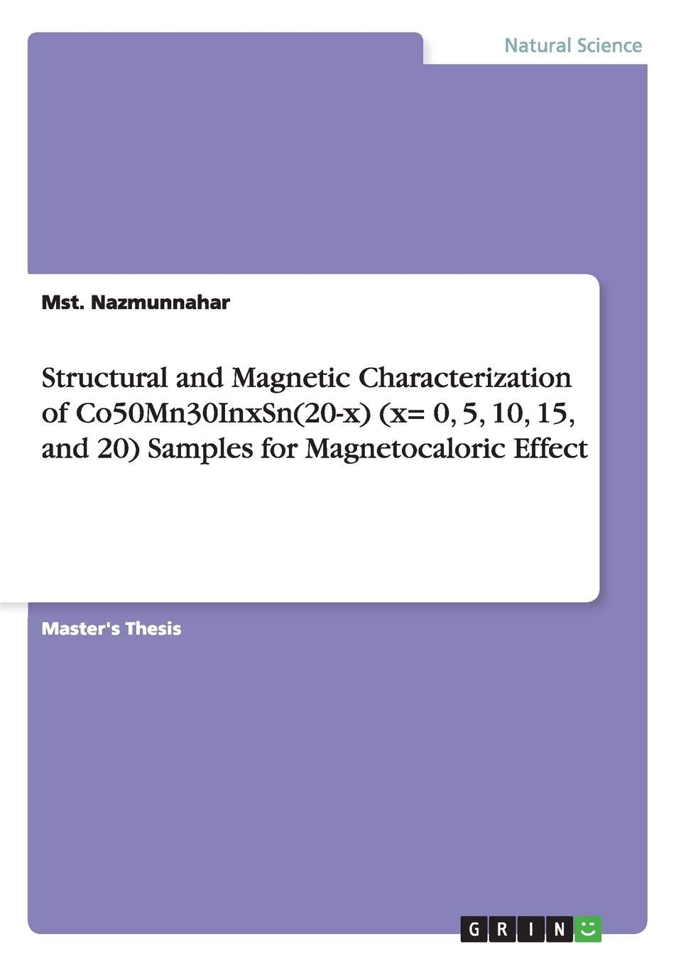 Structural and Magnetic Characterization of Co50Mn30InxSn 20-x x ...