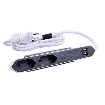 Powerbar Steckdosenleiste mit 2 Steckdosen und 2x USB: Amazon.de ...